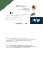 Borrow vs Lend