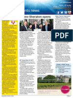 Business Events News for Wed 05 Mar 2014 - New Sheraton opens, Vale Trevor Haworth, SITE\'S Gray area, Sunshine crosses ditch and much more