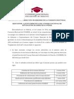 Comisión Electoral - Corrección de errores CONEDE
