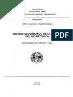 Boletin Nº 008A- Estudio Geodinamico de la Cuenca del Rio Pativilca