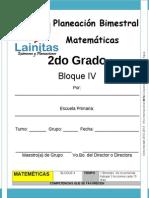 2do Grado - Bloque 4 - Matemáticas