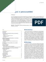 Epilepsie et photosensibilité
