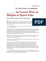 If Only Art Lovers Were as Diligent as Sports Fans