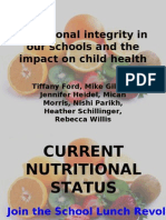 Nutrition in Schools NTR 410 Power Point