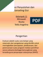Evaluasi Penyuluhan Dan Konseling Gizi