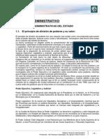 Lectura 1. Derecho administrativo. Función administrativa. Sujetos