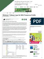 Windows 7 Always Logs on With Temporary Profile - Windows 7 - Tutorials