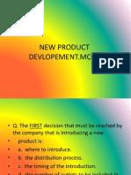 NEW PRODUCT  DEVLOPEMENT MCQ PPT