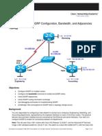 Ccnpv6 Route Lab2-1 Eigrp Configuration
