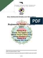 Reglamento Tecnico Pistola ISSF 2013