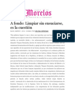 01-03-2014 Diario de Morelos - A fondo; Limpiar sin ensuciarse, es la cuestión