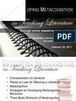 Developing Metacognition in Teaching Literature