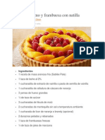 Tarta de Durazno y Frambuesa Con Natilla