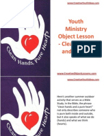 Youth Ministry Object Lesson - Clean Hands and Hearts