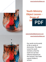 Youth Ministry Object Lesson - Drops of Influence