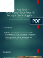 I Can Has Tech - Must Have Tech Toys for Today's Genealogists - 2014 Conference