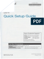 Sony Bravia Quick Setup Guide LCD TV
