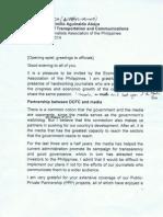 DOTC Sec. Jun Abaya's keynote address at EJAP Induction of 2014 officers 2/27/2014