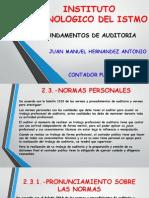 NORMAS PERSONALES DE AUDITORIA