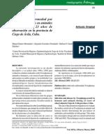 Toxoplasmosis Animales y Humanos Cuba