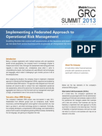MetricStream GRC Summit 2013 Federated Approach ORM