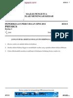 Physics Kedah 2011 QA
