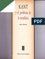 HEIDEGGER, Martin. Kant y el problema de la metafísica