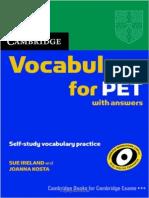 Vocab for PET