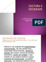 Aula 2 Cultura e sociedade - o ofício do sociólogo