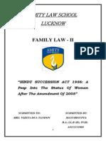 Amity Law School Lucknow- Family Law