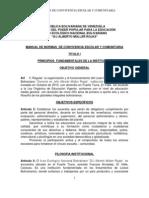 Manual de Normas de Convivencia Escolar y Comunitario