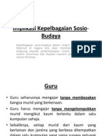 Implikasi Kepelbagaian Sosio Budaya (1)