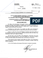 Senate Bill No 2141 - An Act Strengthening the Fiscal Autonomy of the Office of the Ombudsman (Filed by Senator TG Guingona)