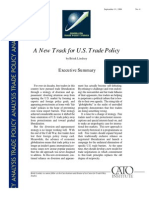 A New Track for U.S. Trade Policy, Cato Trade Policy Analysis