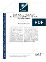 Safety Valve or Flash Point? The Worsening Conflict between U.S. Trade Laws and WTO Rules, Cato Trade Policy Analysis No. 17