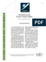 Rethinking the Export-Import Bank, Cato Trade Briefing Paper No. 15