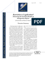 Restriction or Legalization? Measuring the Economic Benefits of Immigration Reform, Cato Trade Policy Analysis No. 40