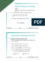 Quantitative Evaluation Methods