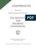 Sample Test - Halachah