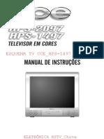 esquema tv cce hps-1497_hps-2097_e_manual de instruções