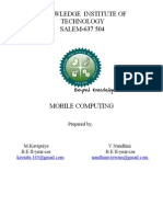 Wireless technologies and its functions,features and applications in mobile computing