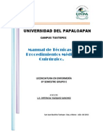 Manual de Tecnicas y Procedimientos Medico Quirurgico-sexto e