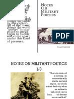 Bonney - Notes on Militant Poetics (Read)