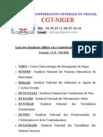 Syndicat Affilies a La Cgt Niger