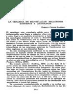 Rattray 1979-relaciones ext y cronología