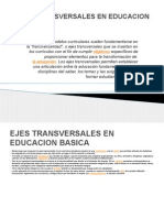 Ejes Transversales en Educacion Basica