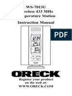 ORECK Weather Station Manual