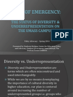 Diversity State of Emergency