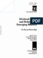 Dividend Policy and Behavior in Emerging Markets