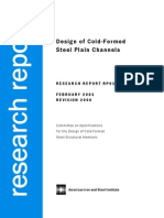 Design of Cold-Formed Steel Plain Channels